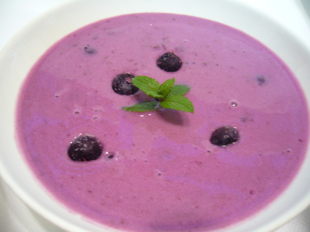 Chilled Czech Blueberry Soup Boruvkova Polevka Studena) Recipe - Food ...
