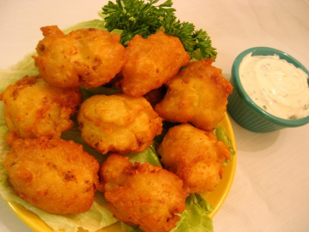 Cauliflower Cheddar Fritters Recipe - Deep-fried.Food.com