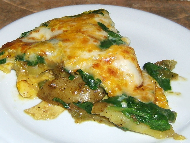 Leek, Potato And Spinach Frittata Recipe - Food.com