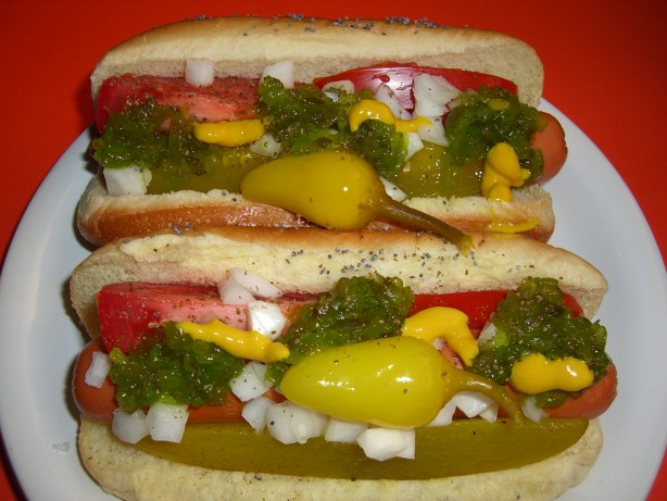 Chicago Style Hot Dogs Recipe Food Com