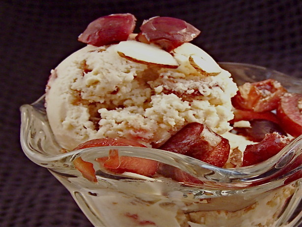 Light Cherry Amaretto Cheesecake Ice Cream Recipe - Food.com