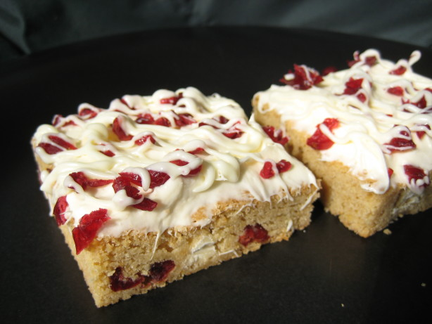 Rate And Review Cranberry Bliss Bars Easy Version) Recipe - Food.com