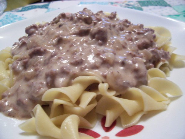 Easy, Creamy Hamburger Stroganoff Recipe - Food.com