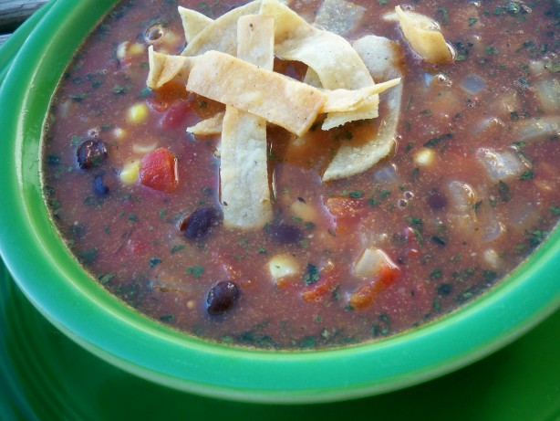 Crockpot Black Bean Tortilla Soup Recipe - Food.com