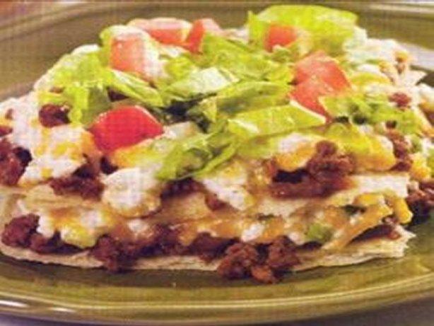 Layered Taco Casserole Recipe Food Com