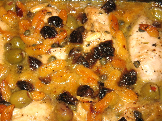 Mediterranean Chicken With Dried Apricots And Prunes Recipe - Food.com