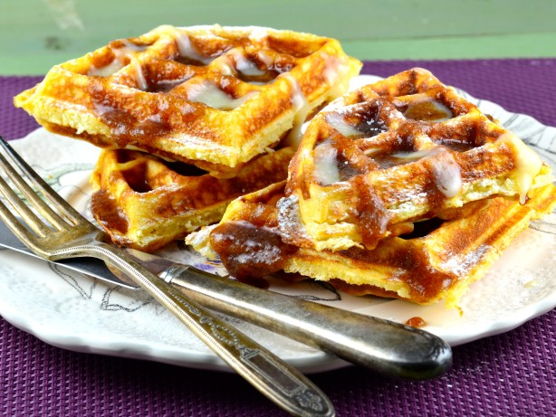 Cinnamon Roll Waffles Recipe - Food.com