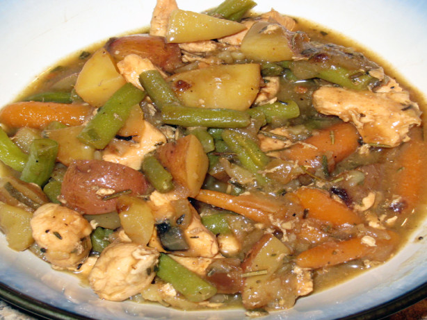 Chicken Stew With Roasted Balsamic Vegetables Recipe - Food.com