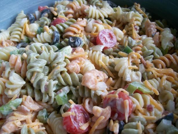 Ranch Pasta Salad Recipe Food Com