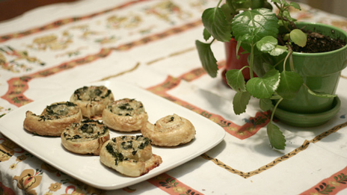 Spinach Gruyere Puff Pastry