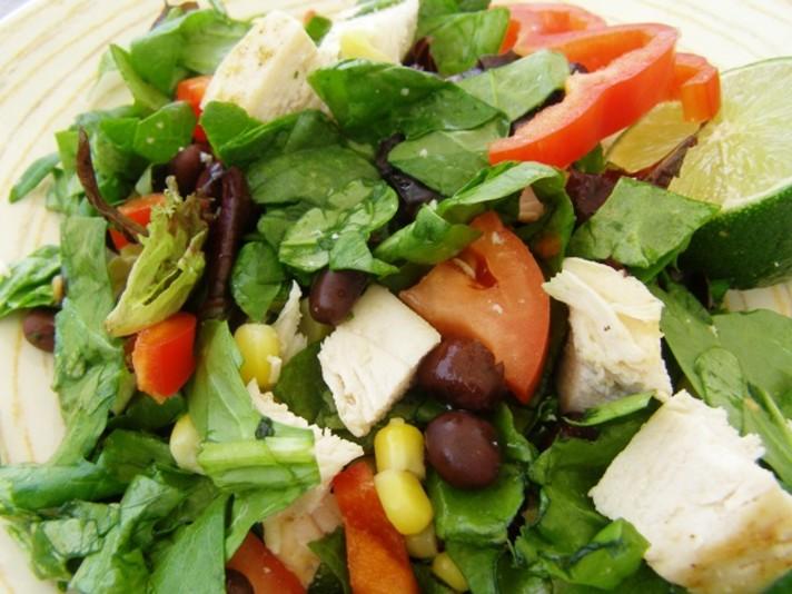 Black Bean, Corn & Chicken Salad