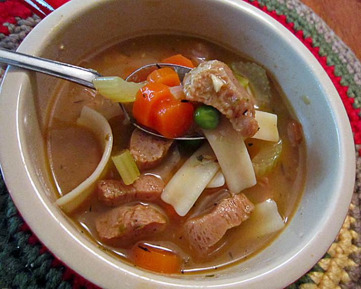 Vegan No Chicken Noodle Soup