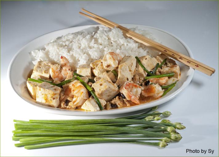 Mapo Tofu With Shrimp Japanese-Sichuan Style