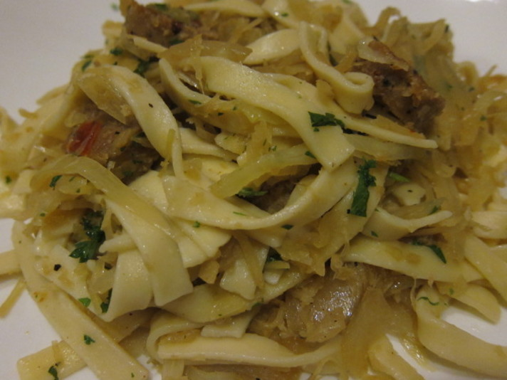 Hungarian Noodles With Vegetarian Sausage