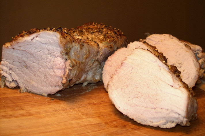 Pork Tenderloin with Mustard-Peppercorn Crust