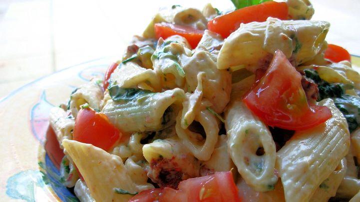 Chipotle Smoked Mozzarella Pasta Salad