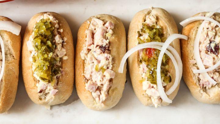 Ham Salad Finger Rolls. Recipe