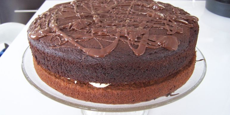 BestEver Chocolate Fudge Layer Cake Recipe Genius Kitchen