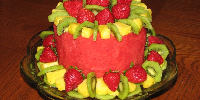 Birthday Cake Made Out Of Fruit Best Cake 2017