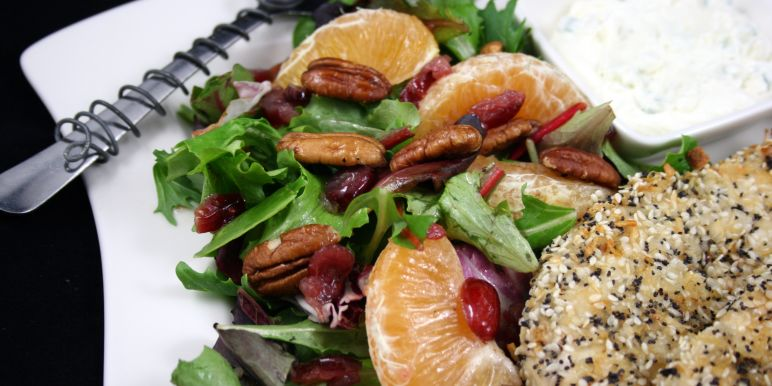 Green salad with dried cranberries recipes