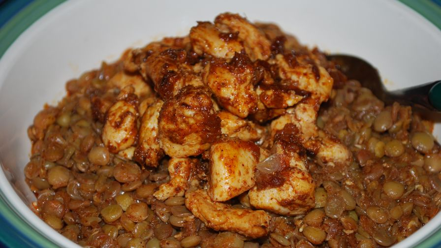 How to make Moroccan Chicken With Lentils - Chicken