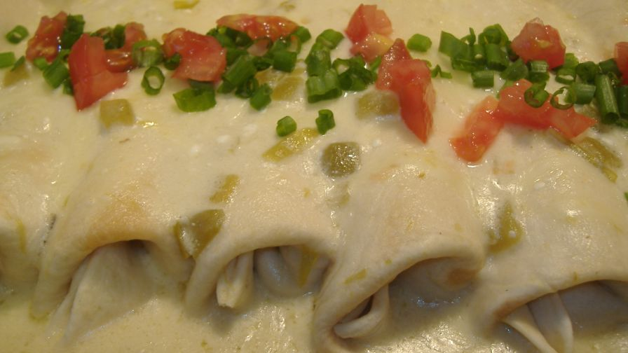 Chicken enchiladaswhite sauce recipe genius kitchen 2 view more photos save recipe forumfinder Choice Image