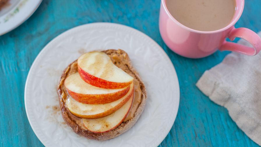Breakfast apple english muffin rounds recipe genius kitchen 6 view more photos save recipe forumfinder Choice Image