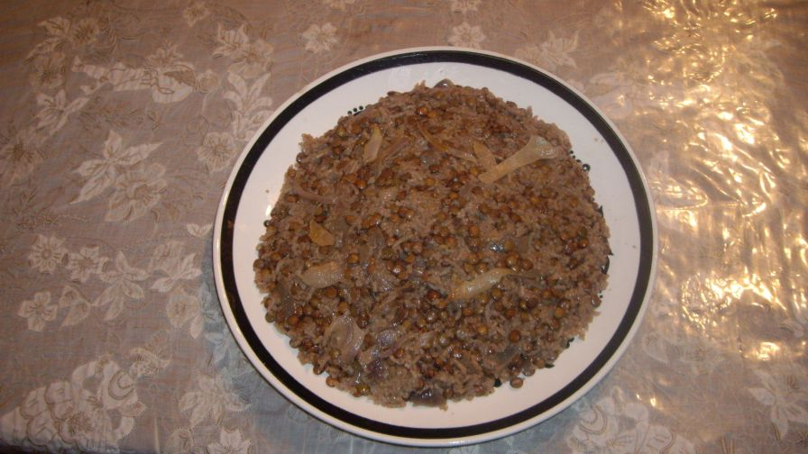 Palestinian rice recipes genius kitchen lentil rice dish mujadarah arabic dish forumfinder Image collections