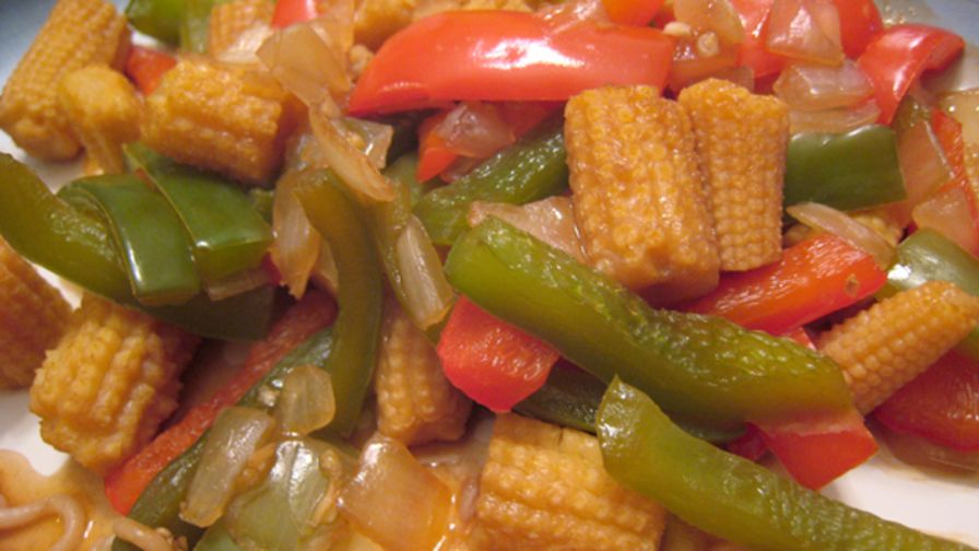 Chinese baby corn and peppers recipe genius kitchen 1 view more photos save recipe forumfinder Images