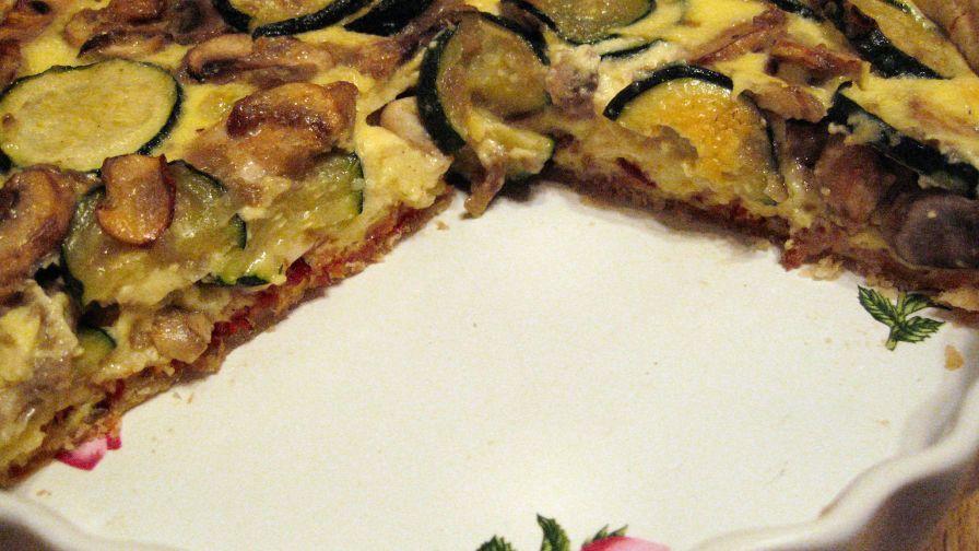 Zucchini And Mushroom Quiche Recipe