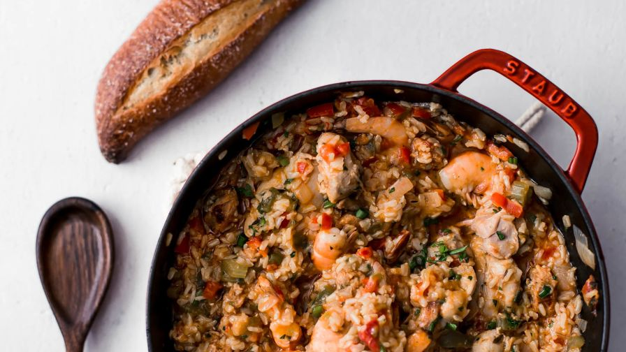 Chicken shrimp and andouille jambalaya recipe genius kitchen 23 view more photos save recipe forumfinder Choice Image