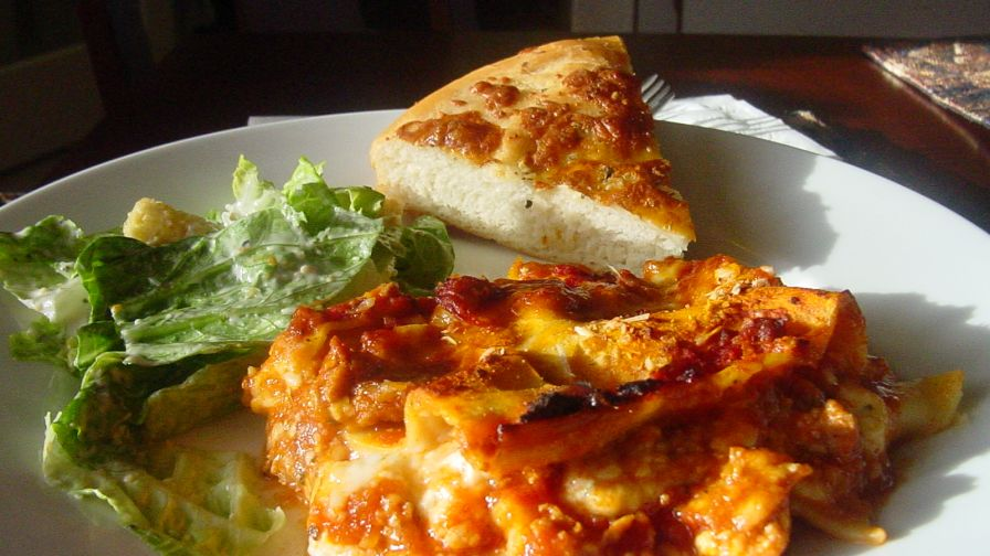 Jo mamas world famous lasagna recipe genius kitchen 10 view more photos save recipe forumfinder Gallery