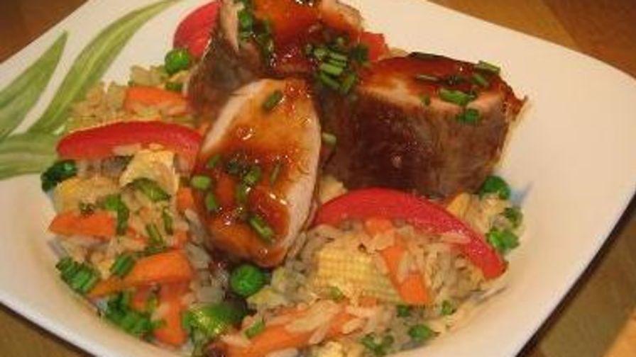 recipe: bourbon glazed pork tenderloin food network [32]