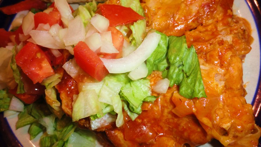 New mexico red chile chicken enchilada casserole recipe genius 7 view more photos save recipe forumfinder Image collections