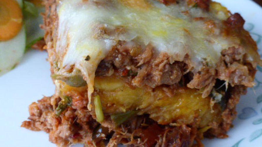Pastelandoacuten sweet plantain lasagna recipe genius kitchen 9 view more photos forumfinder Choice Image