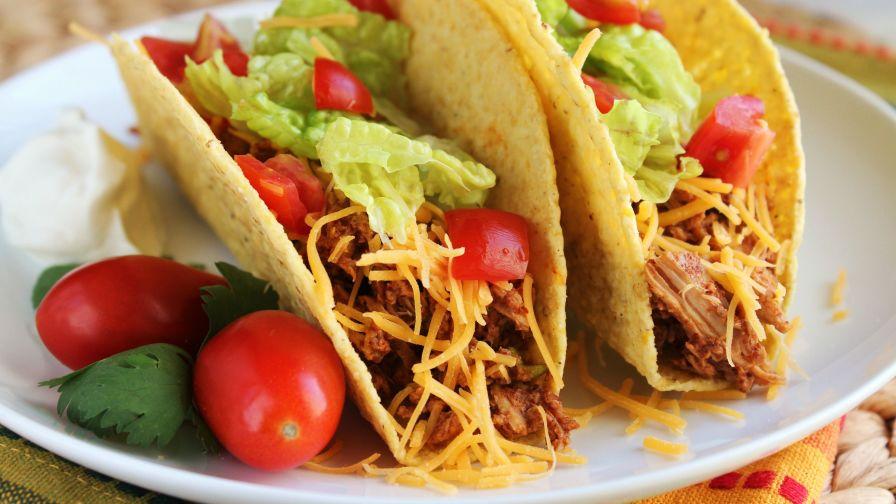 Crock pot chicken taco meat recipe genius kitchen 16 view more photos save recipe forumfinder Choice Image