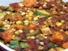 Creole Sweet Potatoes, Corn and Squash Bake