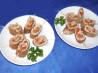 Oriental Finger Food, Rolled Chicken & Mushroom Omelette