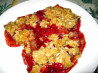 Apple and Raspberry Crumble (Crisp). Recipe by JustJanS