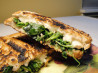 Grilled Brie Sandwiches With Greens and Garlic. Recipe by Bec