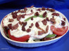 Two Cheese Green Beans & Tomatoes -- Hot or Cold. Recipe by Derf