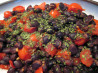Black Beans and Tomatoes - Hot and Spicy. Recipe by Derf