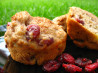 Apple-Cranberry Wheat Muffins. Recipe by Charlotte J