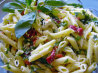 Penne Pasta Salad With Roasted Red Peppers and Fresh Basil