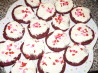 Red Velvet Cookies With Cream Cheese Frosting. Recipe by jeniwan
