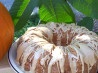 White Chocolate Ribbon Pumpkin Cake With Maple Glaze. Recipe by MacChef