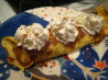 Decadent Banana Crepes. Recipe by Marie