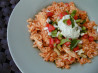 Latin Chicken Rice Pot W.salsa & Avocado Cream (Rachael Ray). Recipe by newspapergal