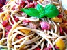Le Cirque's Perciatelli With Peppers and Eggplant. Recipe by Chef Kate