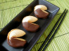 Chocolate-Dipped Fortune Cookies. Recipe by ms_bold